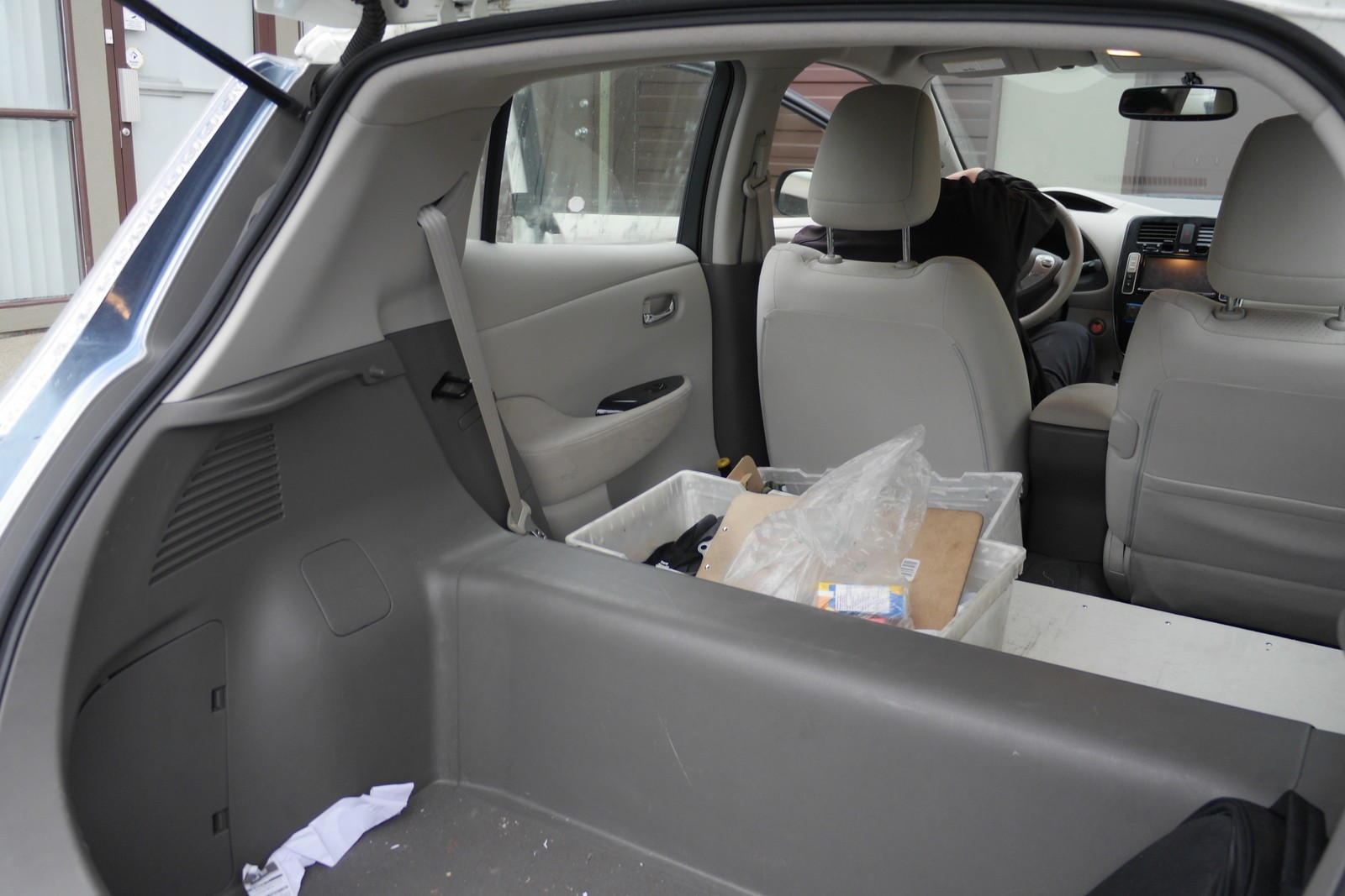 Nissan Leaf Back Seats Removed
