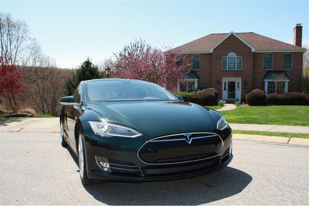 Green Tesla Model S