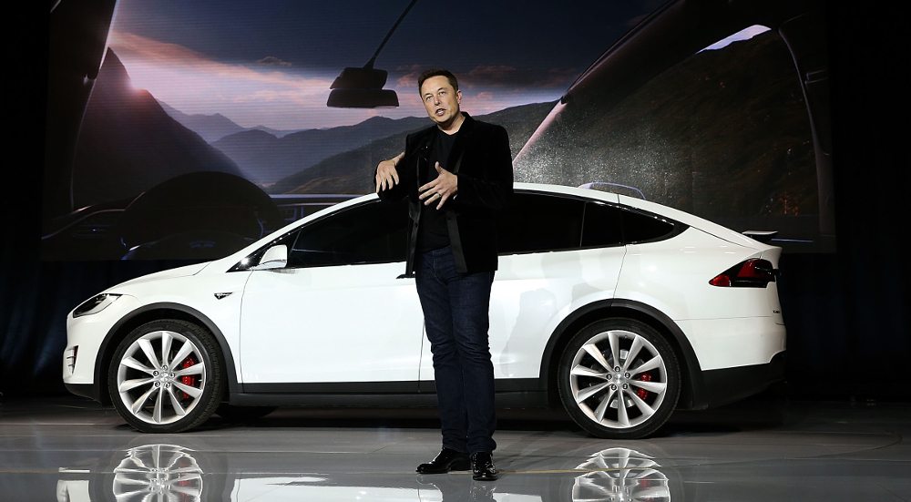 Tesla CEO Elon Musk speaks during an event to launch the new Tesla Model X Crossover SUV on September 29, 2015 in Fremont, California. After several production delays, Elon Mush officially launched the much anticipated Tesla Model X Crossover SUV. The