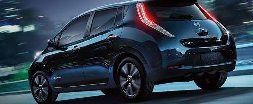 2016 model Nissan Leaf electric vehicle