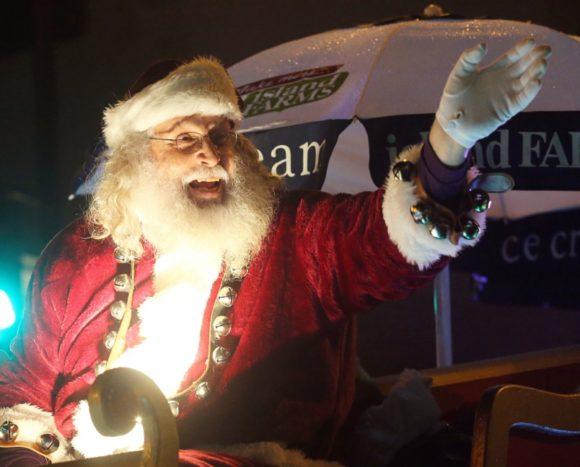 Santa! image courtesy Adrian Lam, Times Colonist